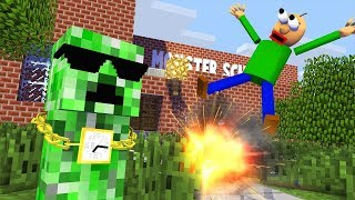 Monster School : BALDI'S BASICS TRAP Challenge - Minecraft Animation
