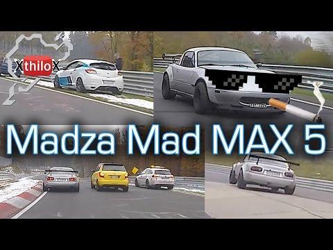 "i met Mazda ""Mad Max 5"" during my warm up lap :-D Seat Leon Cupra - Nürburgring Nordschleife"
