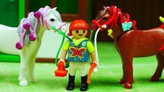 Playmobil Country   Koniki w gospodarstwie   Bajki dla dzieci
