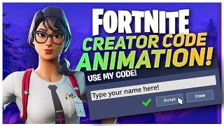 Animate Your Own Fortnite Support a Creator Code!