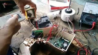 ตรวจเช็คซ่อมแผงเมนบอท MITSUBISHI รุ่นMS-GJ18VAอาการพัดลมคอยล์เย็นไม่หมุนไฟกระพริบ3ครั้งตอนที่1