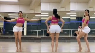 watch jhanvi kapoors h0t amazing belly dance practicing for her upcoming project