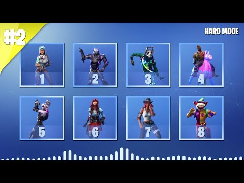 GUESS THE FORTNITE DANCE BY ITS MUSIC - PART 2 - HARD MODE   tusadivi