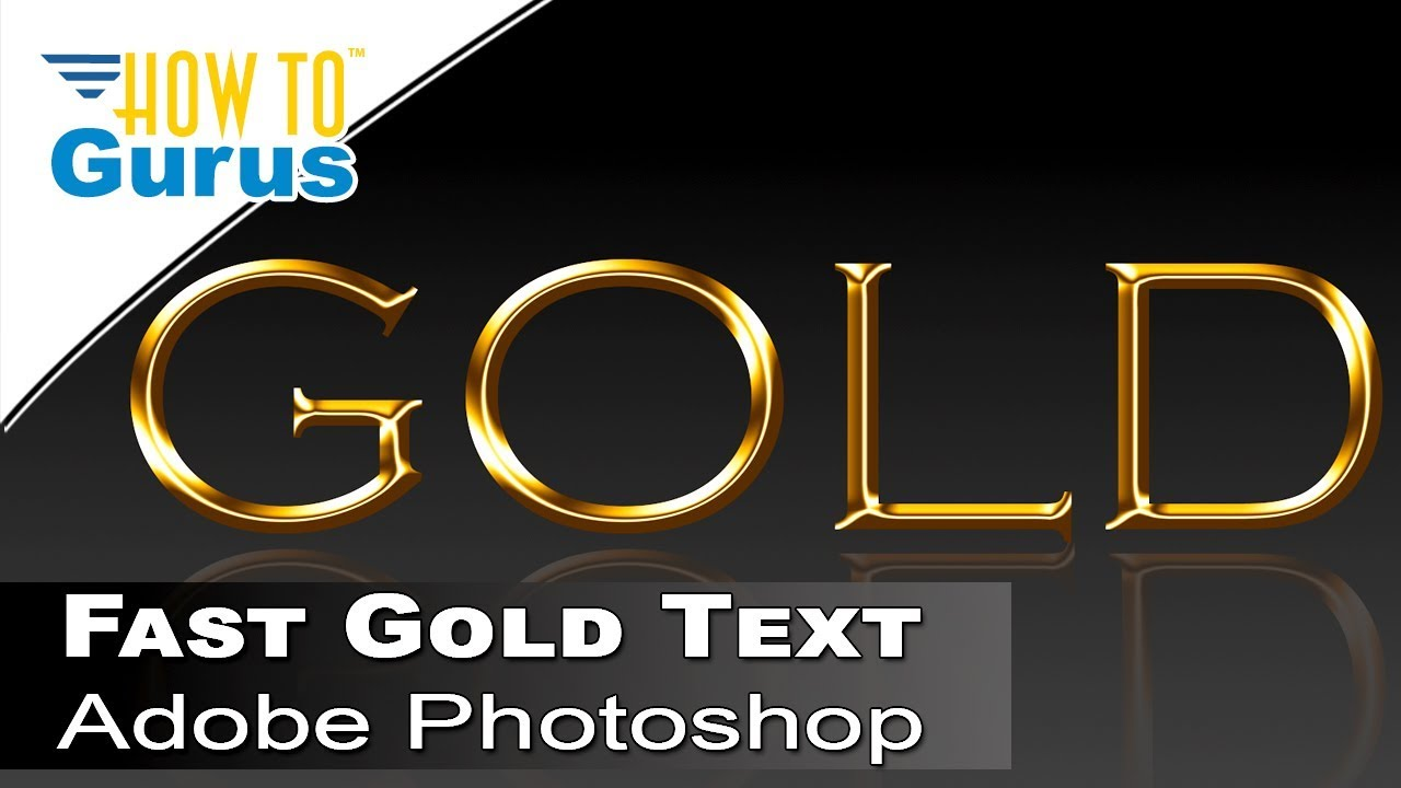 How to make a photoshop fast metallic gold text effect a how to make a photoshop fast metallic gold text effect a photoshop cc 2018 cs6 cs5 tutorial baditri Gallery