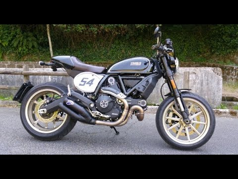 Ducati Scrambler Cafè Racer Start Up And Sound Youtube