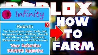 HOW TO FARM REBIRTHS & TOKENS IN MINING SIMULATOR | 100 MILLION UPDATE | ROBLOX
