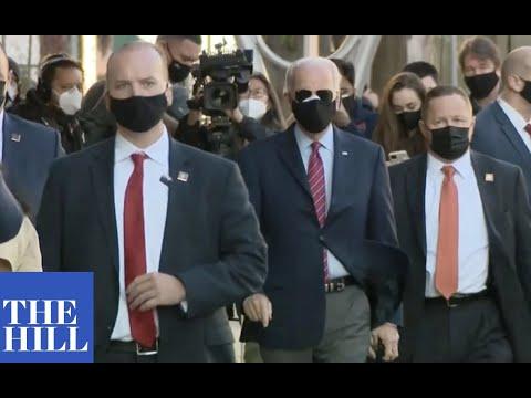 JUST IN: President-elect Joe Biden and Vice President-elect Kamala Harris arrive for mayor event