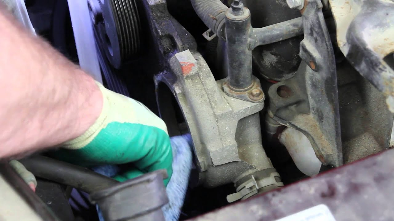 how to install a water pump gm l l l v fwd