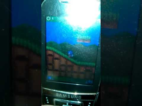 Sonic the Hedgedog 2 dash gameplay on Samsung D600