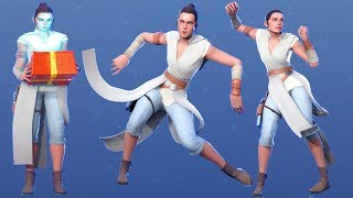 REY STAR WARS Skin with All Dances & Emotes FORTNITE