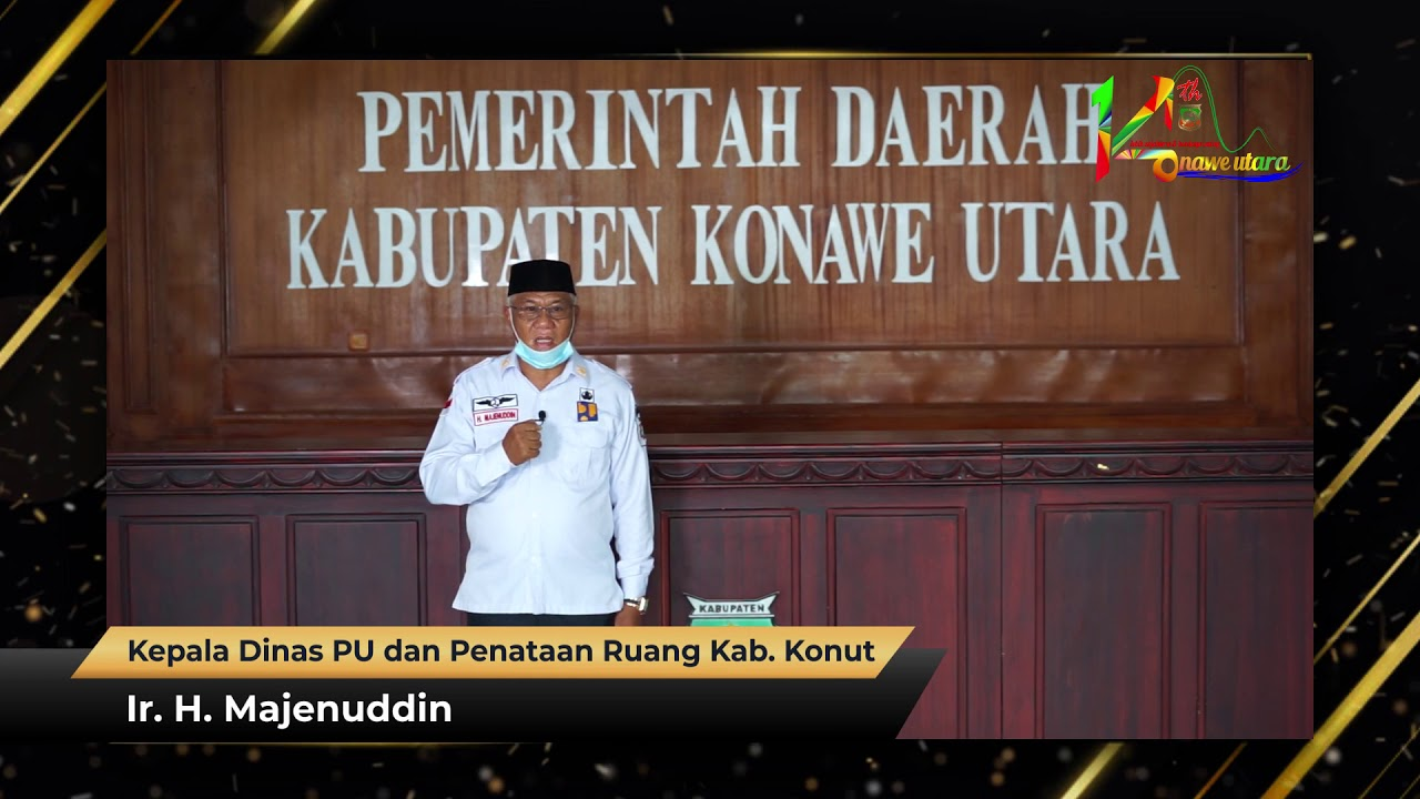 Ucapan HUT Ke-14 Kabupaten Konawe Utara Ir. H. Majenuddin