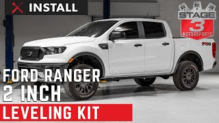 2019 Ford Ranger 2in Leveling kit Install