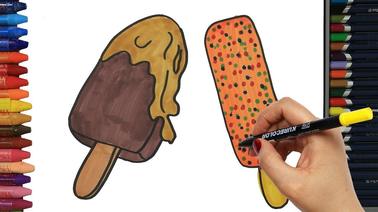 Como Dibujar Y Colorear Helados: Dibujos Para Dibujar