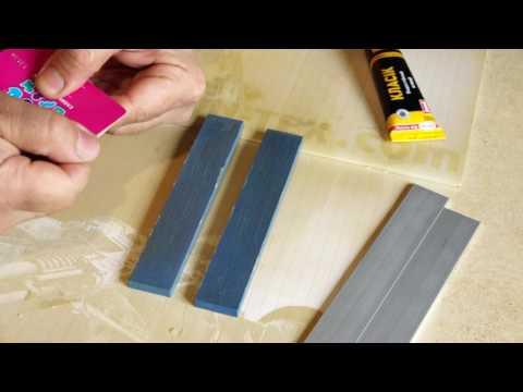 видео: Поклейка точильных камней на бланки - просто, дешево, надежно!