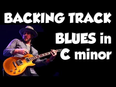 BLUES IN Cm Guitar BACKING TRACK Jam In Cm