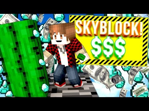 EASY $$ AND CRAZY PVP!! | Minecraft Skybounds #2