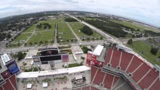 DJI phantom over Raymond James Stadium