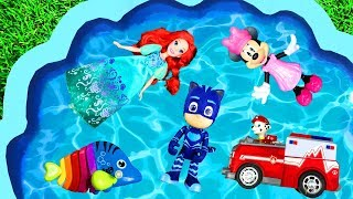 Learn Characters With Pj Masks, Barbie And Paw Patrol For Kids   Disney Toys For Toddlers