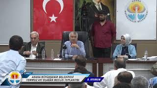 CANLI | Adana Büyükşehir Belediyesi Olağan Meclis Toplantısı Temmuz Ayı 5. Oturumu - 12 Temmuz Cuma