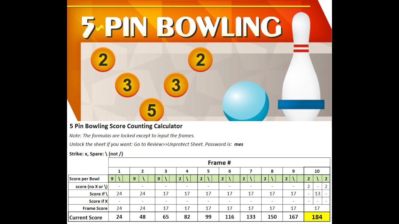 5 Pin Bowling - Scoring and Free Calculator to Download - YouTube
