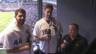 HOU@CWS: Gasol, Mirotic stop by the White Sox booth