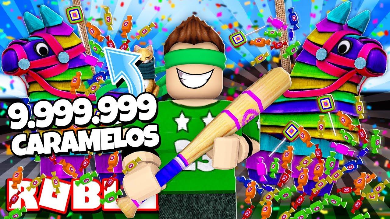 Conseguimos 9 999 999 Caramelos De Pinatas En Roblox Roblox