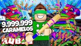 Nós começ 9999,999 CARAMELOS de PIÑATAS em ROBLOX!! | Roblox simulador pinata