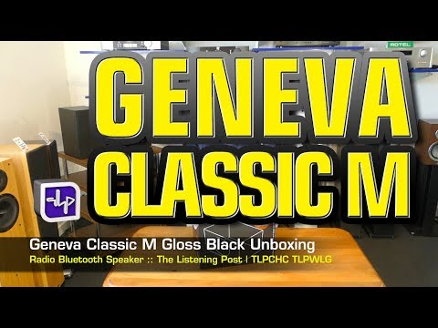 Geneva Classic M Radio Bluetooth Speaker Gloss Black Unboxed  | The Listening Post | TLPCHC TLPWLG