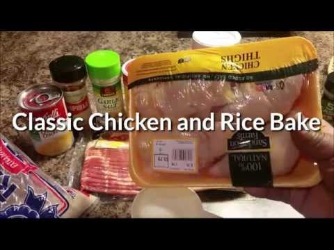 Classic Chicken & Rice Bake