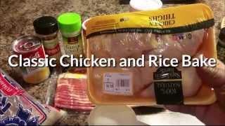 Classic Chicken & Rice Bake