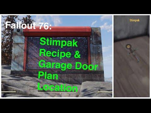Fallout 76 Stimpak Recipe Garage Door Plan Location Youtube