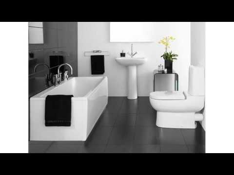 Graue und weiße Badezimmer Ideen