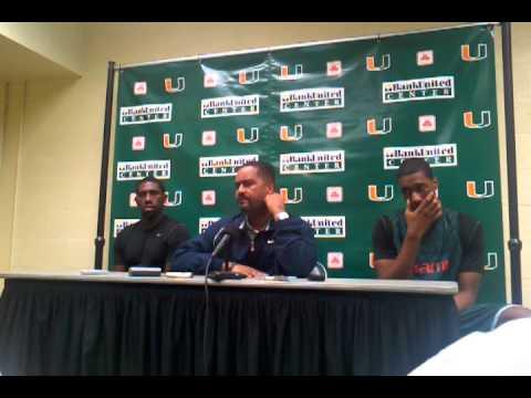 1/13/11 -- Coach Frank Haith, Malcolm Grant & Garrius Adams Media Availability