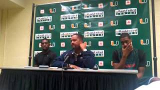 1/13/11 -- Coach Frank Haith, Malcolm Grant & Garrius Adams Media Availability