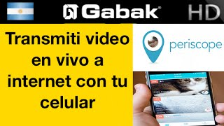 Como transmitir en video en vivo con periscope