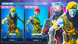 "NEW Fortnite ""DIECAST + MAX OMEGA"" SKIN GAMEPLAY! - NEW Fortnite UPDATE! - Fortnite Battle Royale"