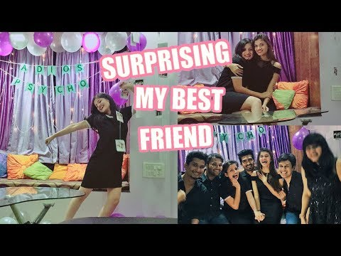 SURPRISING MY BEST FRIEND (New Year Celebration 2018) | Party Decor Ideas | Shreeja Bagwe