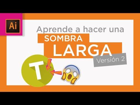 👉ILLUSTRATOR tutorial👈 TEXTO con SOMBRA LARGA✍️  (FÁCIL y en 2 minutos 🚀🚀) thumbnail
