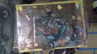 BD White - Spray Painting Spaceman Time-Lapse