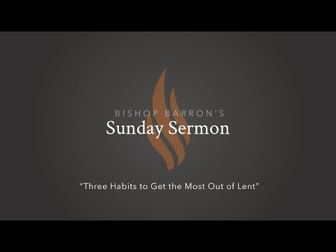 Three Habits to Get the Most Out of Lent — Bishop Barron's Sunday Sermon