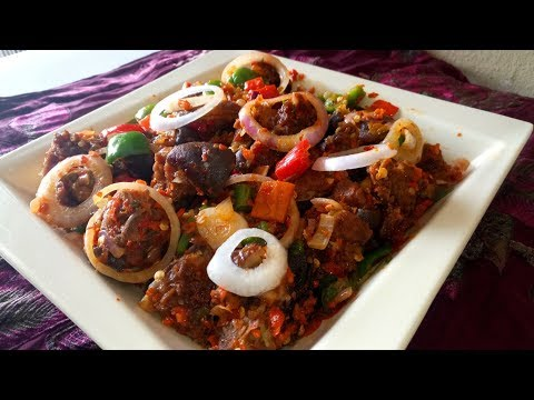 ASUN Recipe: How to Make ASUN/Smoked Peppered Goat Meat,  Easy Way