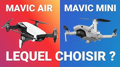 MAVIC MINI vs AIR : quel DRONE choisir ? Comparatif et caractéristiques des 2 drones DJI