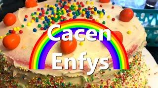 Coginio | Cacen Enfys gyda Seren | Fideo Fi