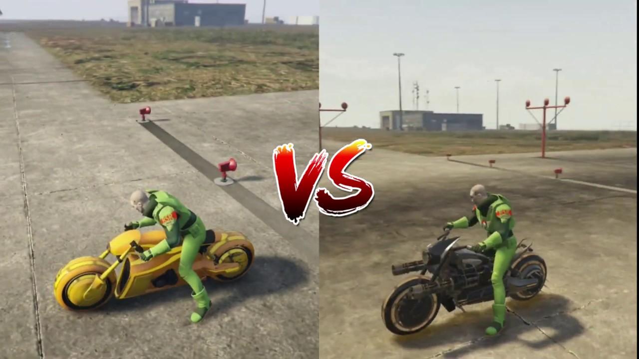 GTA5 ONLINE - FUTURE SHOCK DEATH-BIKE VS NAGASAKI SHOTRO (WHICH IS FASTER)  GTA5 ONLINE SPEED TEST!