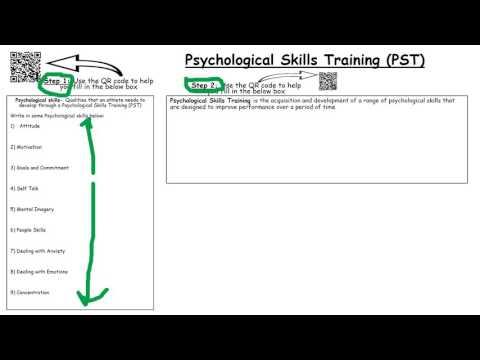 Psychological Skills Training (PST) step 2
