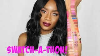 SWATCH-A-THON!!! Anastasia Beverly Hills Liquid Lipstick & Lip Gloss