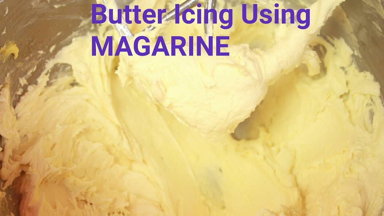 Substituting margarine for butter in icing