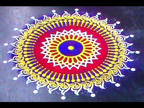 Making Rangoli Designs Using Stencil Youtube