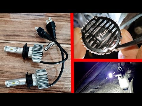 LED Headlights H7, H8, H11 6000K, 72W, 8500LM with built-in decoder and without error