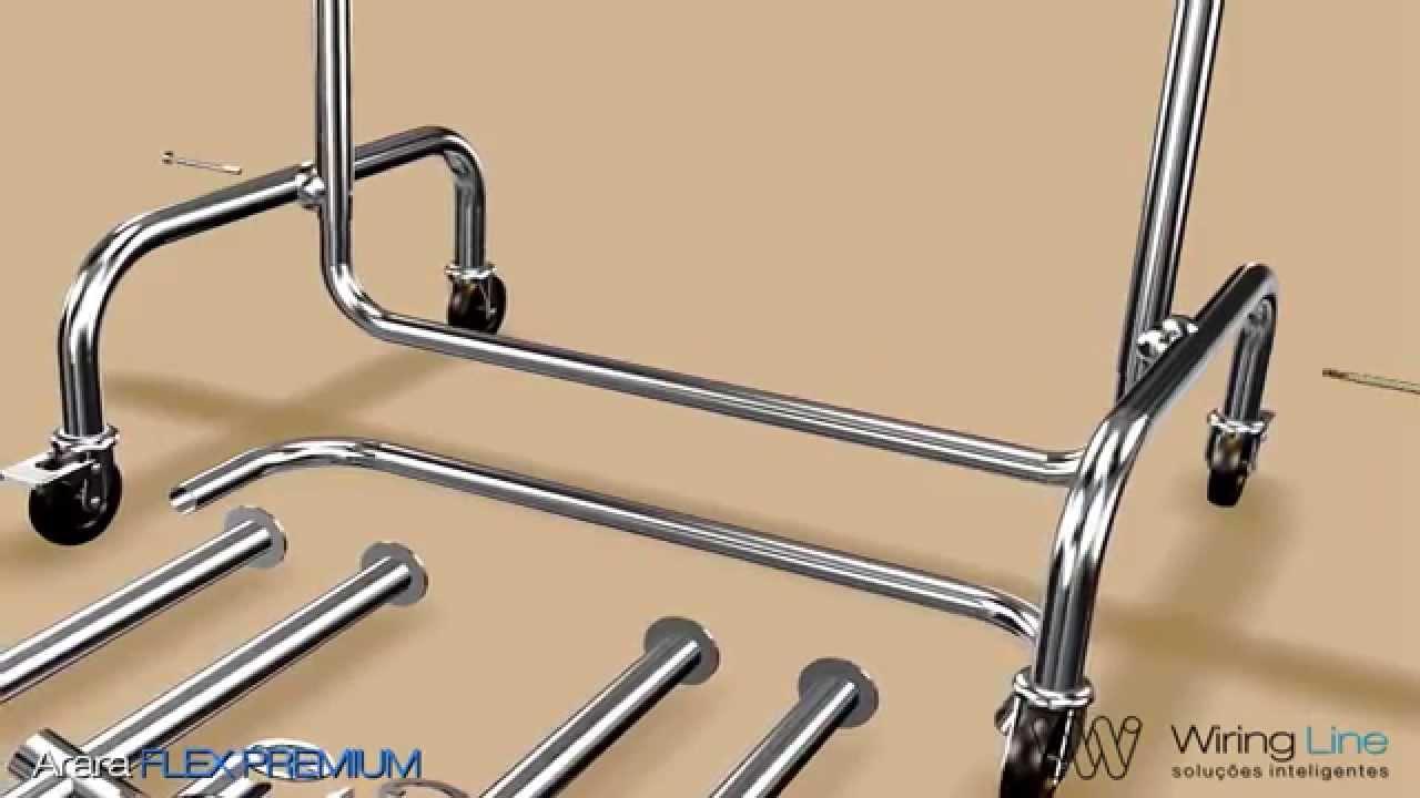 42bba4333 Manual de montagem em animação 3d Arara Flex Premium HD - YouTube